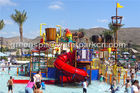 Giant Aqua Park / Water Park Slides Integrated Amusement Ride With N Slide