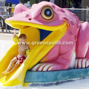 Fiberglass Frog Water Spray Kids Water Playground Swimming Pool Water Park