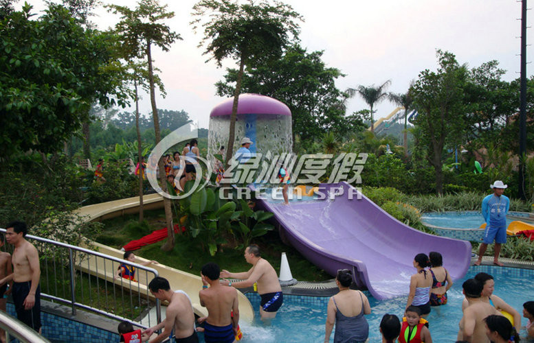 Playground Swimming Pool Water Slide Multi Color Eco-friendly