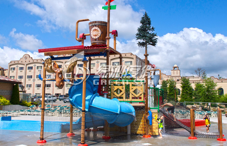 Fiber glass Steel Pipe Amusement Park Water Slides , Swimming Pool Water Slide