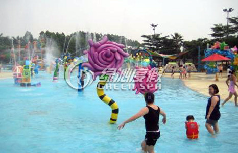 Children Water Playground Croal Flower