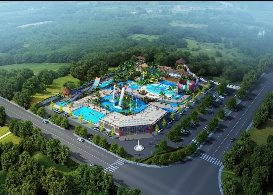 Outdoor Aqua Playground Water Park Conceptual WIth Fiberglass